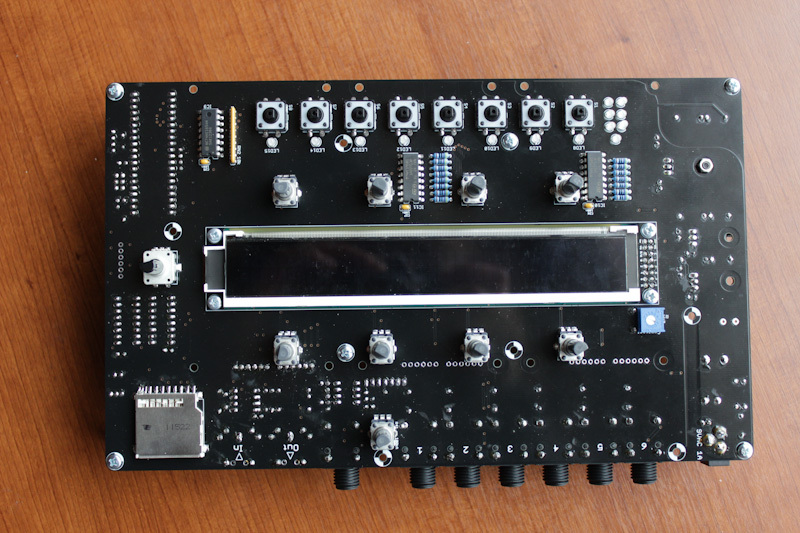 ambika synth motherboard top view