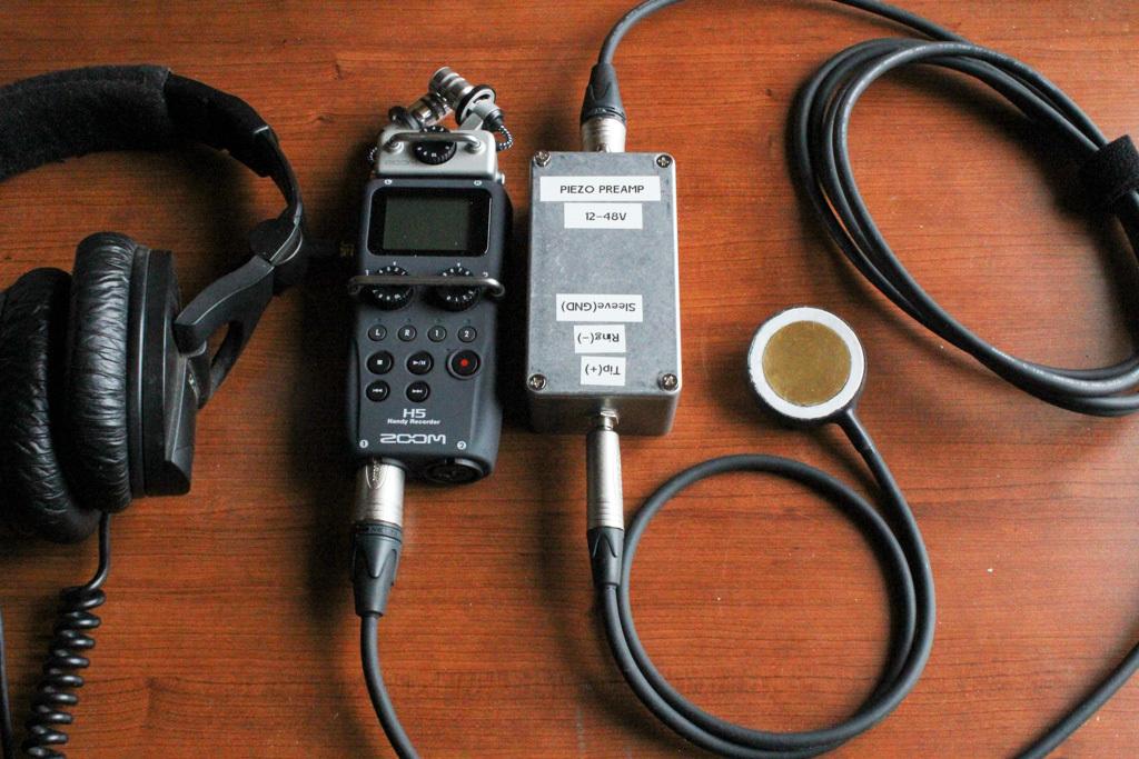 portable recorder contact mic pre-amp